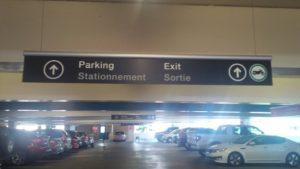 YVR Parking Sign 1